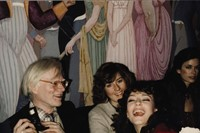Andy Warhol and Rachel Ward by Michael White