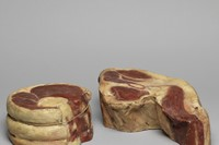 Unknown, Shop display joint of beef; shop display shank of b