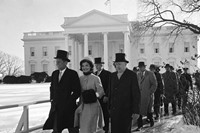 JFK and Jackie Kennedy at the Presidential Inauguration, 196