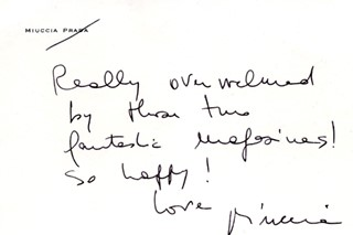A letter from Mrs Prada to AnOther editor in chief Jefferson