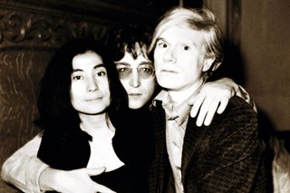 Yoko Ono, John Lennon, and Andy Warhol, June 5, 1971