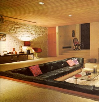 Conversation pits another for Sunken living room 70 s