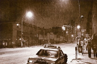 NYPD on Essex Street, 1989 by Alex Harsley