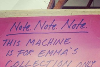 A note protecting Emma Hardstaff's machine