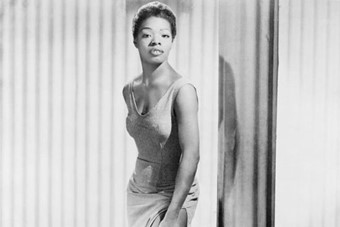 Maya Angelou in 1957, taking part in the Caribbean Calypso F