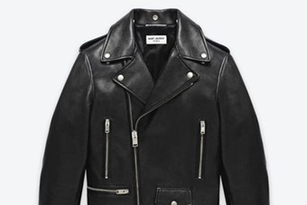 Saint Laurent classic Motorcycle jacket chosen by Kin Woo