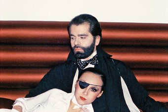 Marie Helvin and Karl Lagerfeld, photograph by David Bailey,