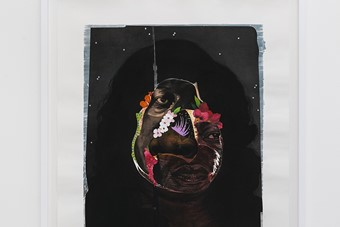 Nathaniel Mary Quinn, Flower Face, 2014