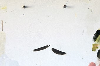 Paint and Screws on a Studio Wall