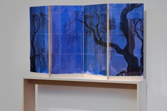 A Weeping Willow Crying on His Pillow (blue), 2010, TJ Wilco