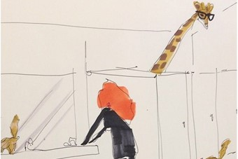 Grace Coddington & Mitford, the New Intern, share an Awkward