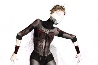 Costume sketch by Kinder Aggugini for The Rite of Spring