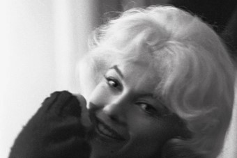 Monroe in her dressing room, on the set of Let's Make Love,