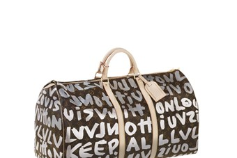 Keepall 50 in Silver Graffiti Monogram canvas, S/S 2001 Step