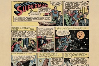 "Out of This World. ""Superman"" Sunday newspaper strip; script"