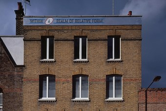 Lawrence Weiner, Within A Realm of Relative Form, 2005