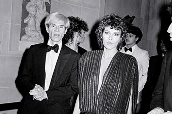 Andy Warhol and Raquel Welch, 1 December 1981