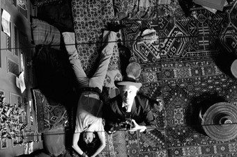 Cecil Beaton, Self-Portrait with Mick Jagger, on the set of