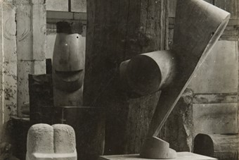 Constantin Brancusi, View of the Studio, The Sorceress and t