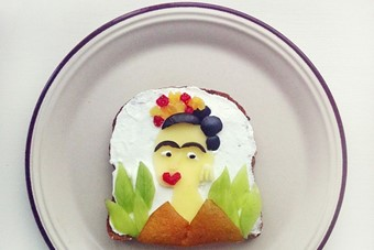 The Art Toast Project: Frida Kahlo, Self Portrait Dedicated