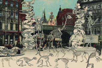 London: Ludgate Circus - Day of the Skeletons, 2012