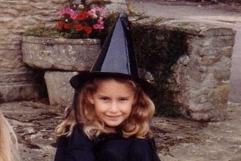 Photographic editor Zoe Maughan as a witch
