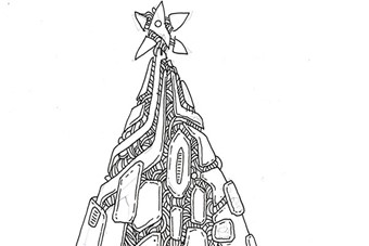 Sketch for Gary Card's Electric Tree