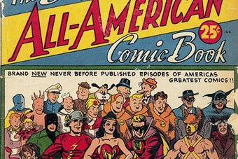 The Big All-American Comic Book No. 1. Cover art, various ar