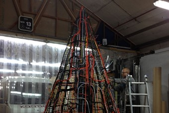 The making of Gary Card's Electric Tree