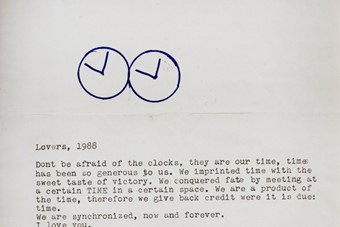 Letter which accompanies Perfect Lovers, 1987-1990, Felix Go