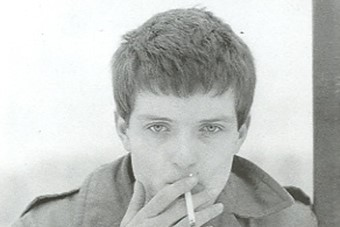 Ian Curtis photographed by Kevin Cummins, 1979