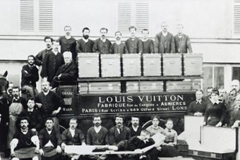 Vuitton family (Louis, Georges and Gaston-Louis) and employe