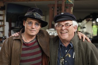 Johnny Depp & Ralph Steadman in Ralph's studio
