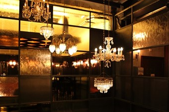 Lighting at Dishoom