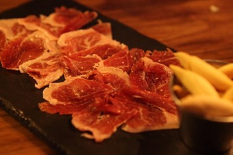 Organic jamon Iberico at the Black Pig