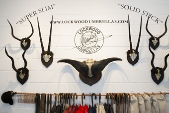 Lockwood Umbrellas pop-up store