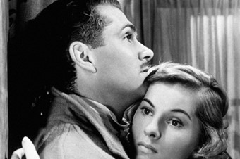 Laurence Olivier and Joan Fontaine in Rebecca, 1940