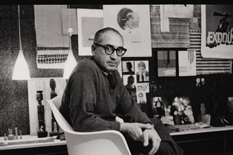 Saul Bass in his Hollywood office, c.1960