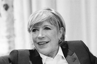 Marianne Faithfull speaking at AnOther Spotlight Salon, 2014