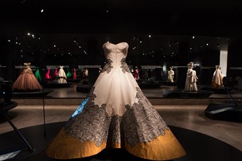 Clover Leaf Ball Gown on display at the Metropolitan Museum