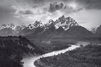 The Tetons and the Snake River, Grand Teton National Park, W