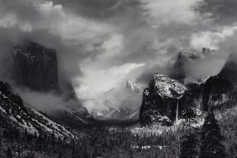 Clearing Winter Storm, Yosemite National Park, California, a