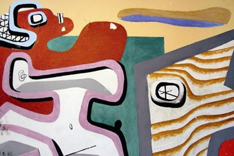 Le Corbusier, mural painting in the Villa E 1027, Roquebrune