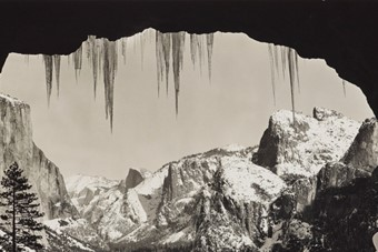 From Wawona Tunnel, Winter, Yosemite, about 1935
