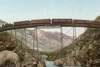 Clear Creek Canyon, Georgetown Loop, Colorado, photochrom, b