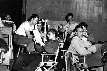 Ingrid Bergman & Gary Cooper on the set of For Whom The Bell