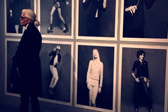 Karl Lagerfeld at the Chanel The Little Black Jacket Exhibit
