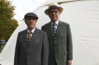 Gilbert & George at the Serpentine Memory Marathon 2012