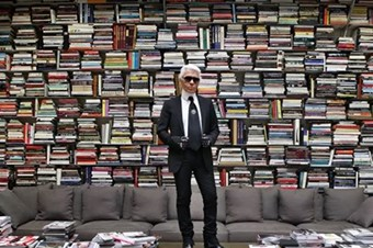 Karl Lagerfeld's library chosen by Tim Blanks