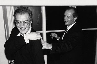 Michael White and Jack Nicholson, 1993